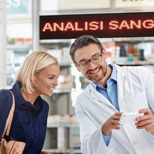 pannello led interno farmacia